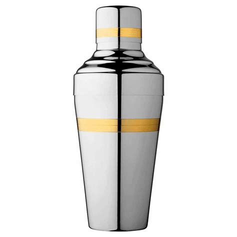 cocktail shaker baron gold and polished steel cocktail shaker 50cl