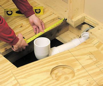How To Install A Water Closet by How To Run Drain And Vent Lines Better Homes Gardens