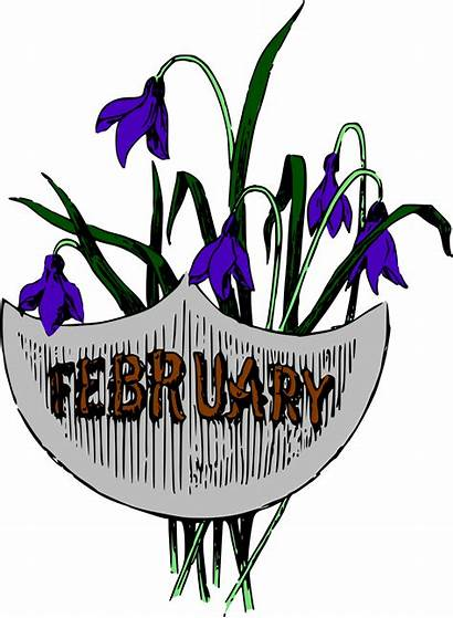 February Clipart Clip Month Months Colour Illustrated
