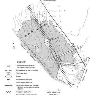 Site Map Showing The Seal Cove Archaeological Site (casma