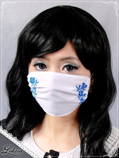 fashion face mask dust mask surgical mask whiteblue