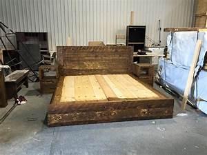 lit rustique chic pro pin le specialiste du bois de pin With meuble de salle a manger avec lit king size