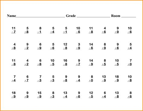 math worksheets 1st grade worksheets for all