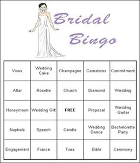1000 ideas about bridal shower bingo on pinterest free
