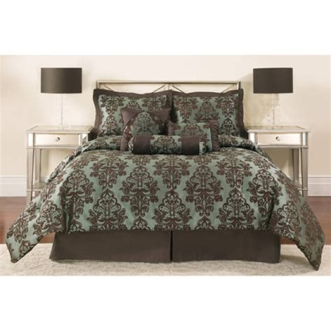 bed sets walmart walmart teal brown bedding for the home