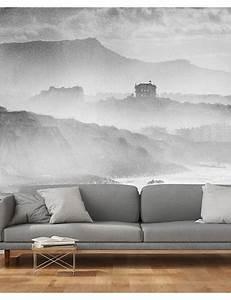 Fresque Murale Papier Peint : splendide fresque murale sur papier peint photo noir et blanc ~ Melissatoandfro.com Idées de Décoration
