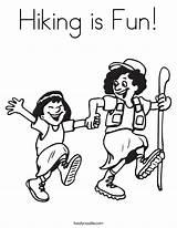 Hiking Coloring Fun Mom Worksheet Twistynoodle Built California Usa sketch template