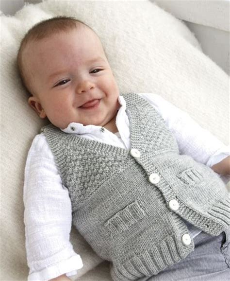 Baby Boy Vest Vests For Babies And Children Knitting Patterns In The