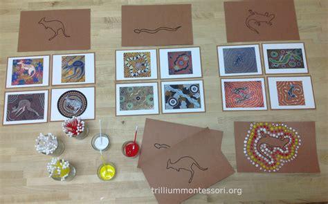 aboriginal art activities for preschoolers learning about australia trillium montessori 248