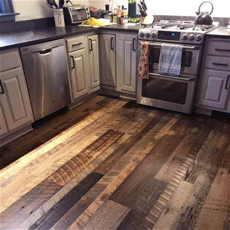 wooden kitchen floor reclaimed wood flooring remilled barn wood aged woods 1168