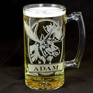 personalized moose beer stein etched glass gifts for With etched glass wedding gifts
