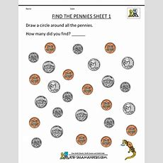 Kindergarten Money Worksheets 1st Grade