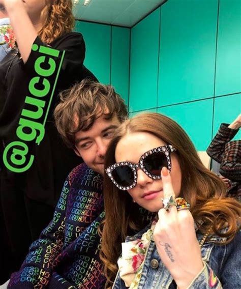 jessica barden alex lawther  guccis fw show coup