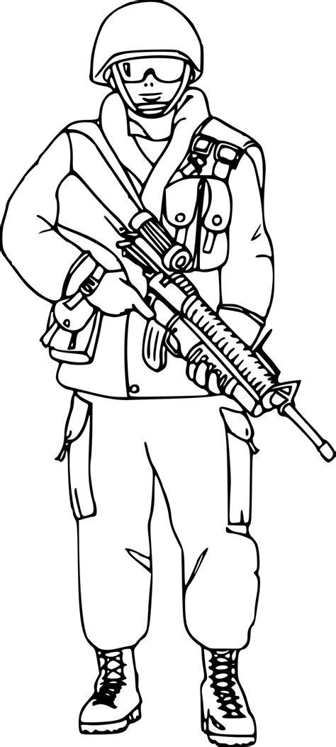 coloriage militaire  imprimer