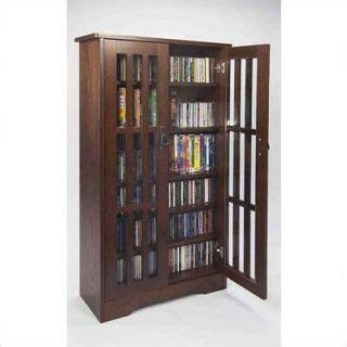 Leslie Dame Deluxe Media Storage Cabinet dvd storage cabinet cherry on popscreen