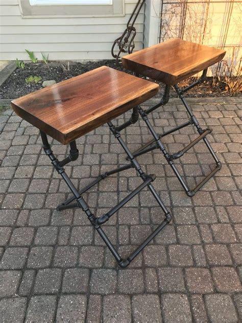 edge walnut bar stool