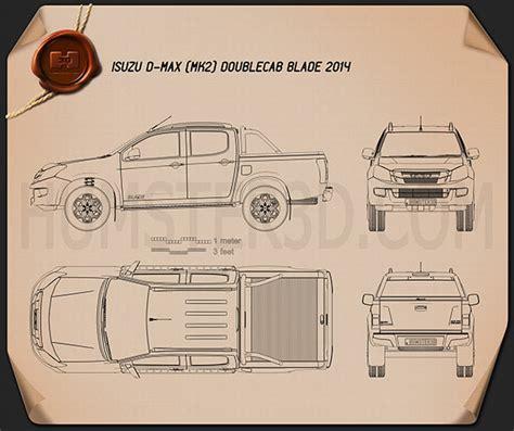 isuzu  max double cab blade  blueprint blueprint