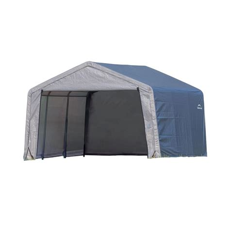 Shelterlogic Shed In A Box Home Depot by Shelterlogic Shed In A Box 12 Ft X 12 Ft X 8 Ft Grey
