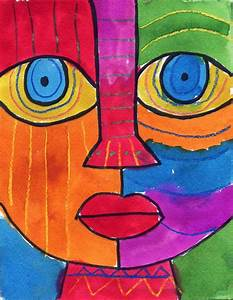 Abstract Face - Art Projects for Kids