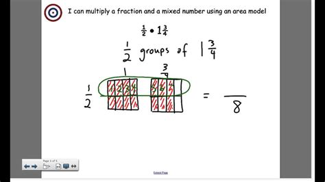 multiply fractions  mixed numbers   area model