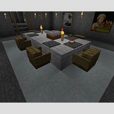 Dinning Table With Chairs, Minecraft Dining Table
