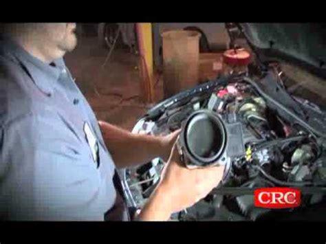clean  mass air flow sensor crc youtube