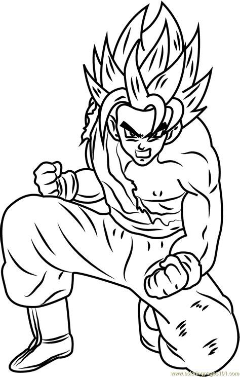 son goku dragon ball  coloring page  dragon ball