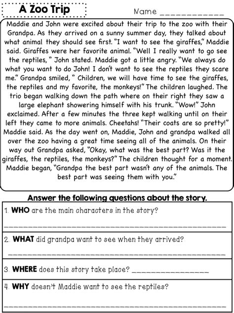 ws packet reading passages comprehension