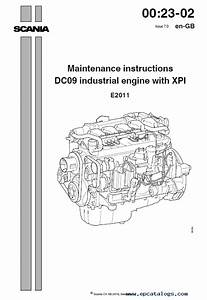 Scania Dc09  Dc13 Industrial Engines Xpi Instructions And