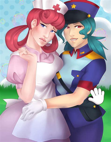 Nurse Joy And Officer Jenny By Rd406 On Deviantart
