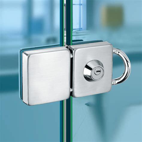glass cabinet door locks double glass door lock 304 stainless steel single open