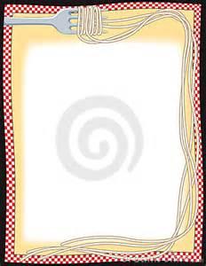Spaghetti Dinner Border Clip Art Free