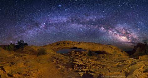 canyonlands mesa arch panorama milky