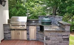 Outdoor kitchen photos custom kitchens big green egg for Big green egg outdoor kitchen
