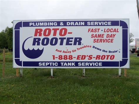 roto rooter plumbing drain services our new roto rooter billboard in easton md 21601 www