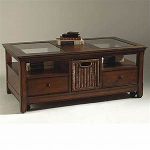 magnussen tanner 2 piece wood storage coffee and end table With coffee table and end tables with storage