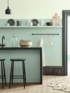 awesome deco salon vert deau contemporary lalawgroupus With deco cuisine avec lit À eau