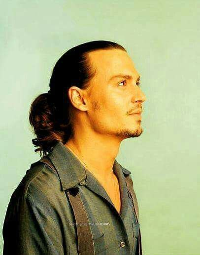 ponytail hairstyle johnny depp edition mens hairstyle