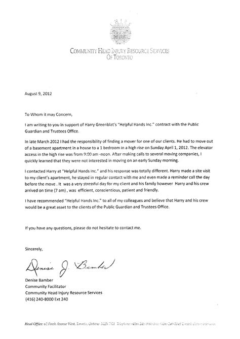 letter  recommendation  canada south florida