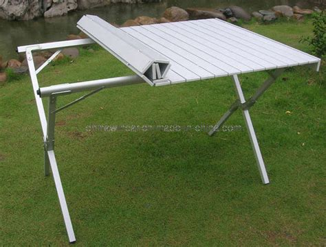 roll up aluminium table cing table folding aluminum portable bench roll up
