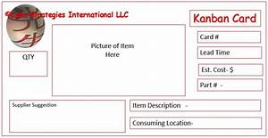 listen to the gemba lean strategies international With kanban cards template