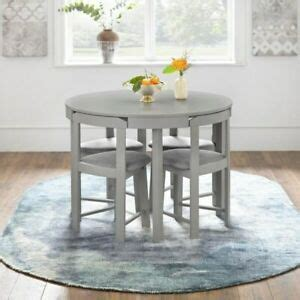 compact dining set  grey gray kitchen small space