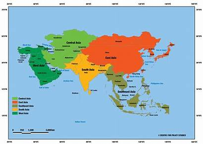 Asia Map Subregions Economic Pacific Its Freedom