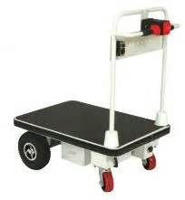motorized electric powered platform  wheel cart