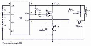 Thermostat Lm56 Project Circuit Diagram