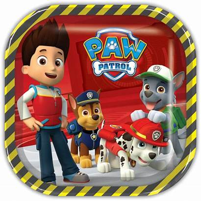 Paw Patrol Cuadrado Plato Grande