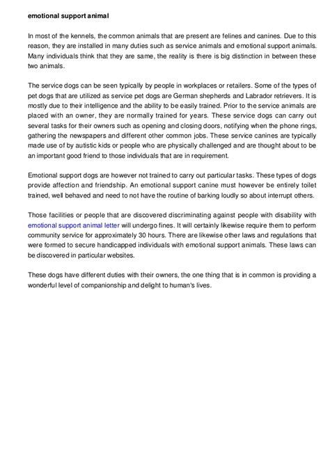 emotional support animal letter housing emotional support animal letter