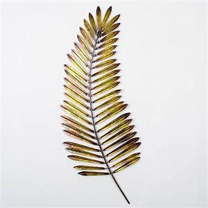 Metal palm leaf modern wall art this piece of