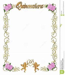 Décimo Quinto Invitación De Quinceanera Del Cumpleaños Foto de archivo libre de regalías