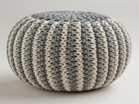 Knitted Pouf Ottoman Pattern by Knitted Pouf Pattern חיפוש ב